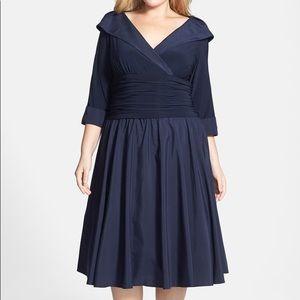 Eliza J Portrait Collar Fit N Flare Dress Gown
